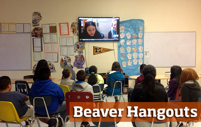 Beaver Hangouts in the classroom