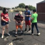 Students test a chemical car
