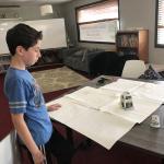 Student testing scribbler machine