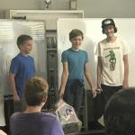 Students present invention