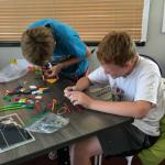 Students designing solar cars