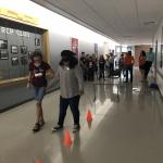 Students in a trust walk