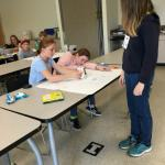 Students testing scribbler machines