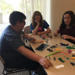 Students designing solar cars