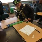 Students invent with spaghetti