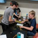 Students inventing bridges