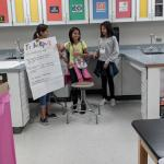 Students presenting invention