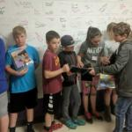 Students practice a Zoom activity