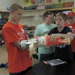 Students invent during Junkyard Wars.
